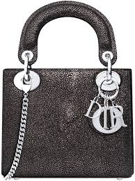Mini-Lady-Dior-With-Chain-In-Galuchat