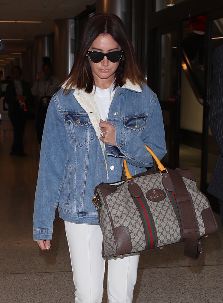 c807e3fa96 Ashley and her sister Jennifer are currently set to produce a new comedy  for CBS. Shop the Gucci Soft GG Supreme Duffel Bag via Gucci ( 1