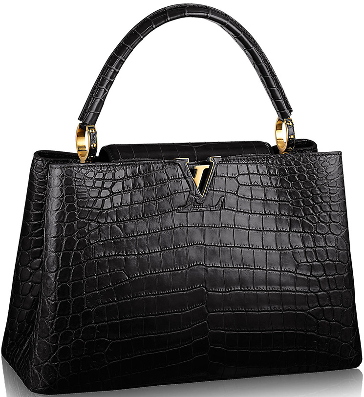 Louis-Vuitton-Capucines-Bags-in-Ostrich,-Python-And-Crocodile-Leathers-3