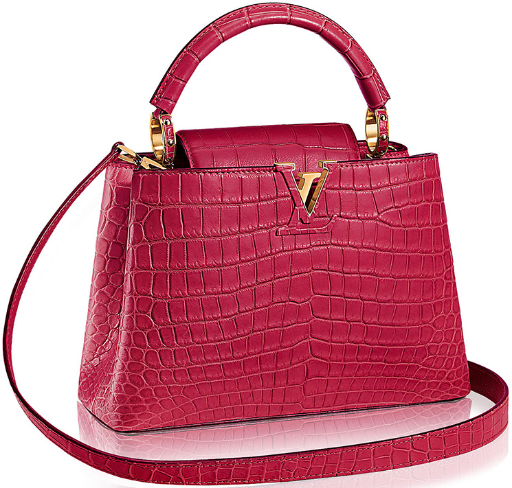 Louis-Vuitton-Capucines-Bags-in-Ostrich,-Python-And-Crocodile-Leathers-5