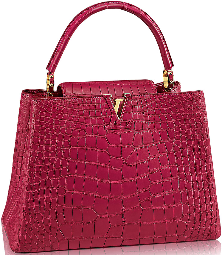 Louis-Vuitton-Capucines-Bags-in-Ostrich,-Python-And-Crocodile-Leathers-6
