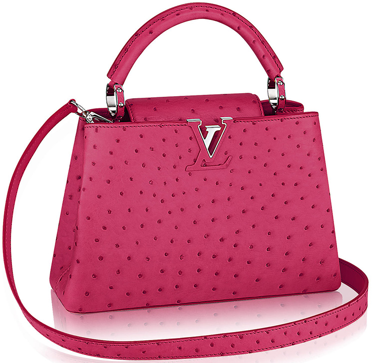 Louis-Vuitton-Capucines-Bags-in-Ostrich,-Python-And-Crocodile-Leathers